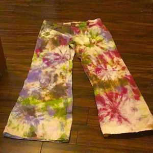 Tie dye bell/flares by old navy